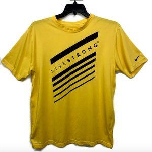 Nike Dri Fit Men's Livestrong Yellow Graphic Logo
